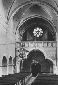 Kirche, Blick zur Orgel ,vor 1976