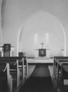 Kirche, Blick zum Altar, Foto: Ernst Witt, Hannover, September 1961