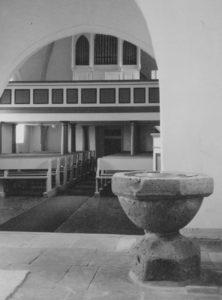 Kirche, Blick zur Orgel, Foto: Ernst Witt, Hannover, September 1961