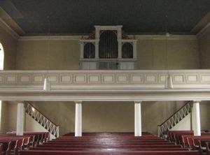 Kirche, Blick zur Orgel, Foto: Ernst Günther Behn, Klein Gußborn, 2009/10