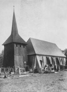 Kirche, Ansicht von Südwesten, vor 1956