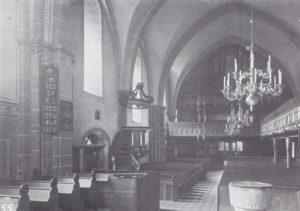 Kirche, Blick zur Orgel, 1915