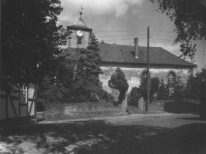 Kirche, Ansicht von Süden, um 1953