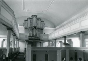 Kirche, Blick zur Orgel, vor 1988