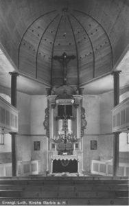 Blick zum Altar, um 1948