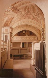 Kirche, Blick zur Orgel, Foto: Ernst Witt, Hannover, Juni 1951