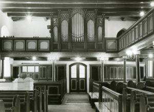 Kirche, Blick zur Orgel, vor 1969