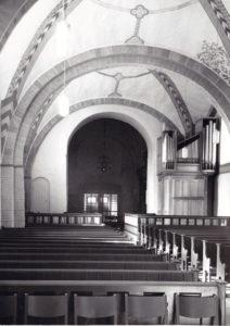 Kirche, Blick zur Orgel, nach 1963