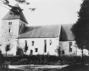 Kirche, Ansicht von Süden, um 1900