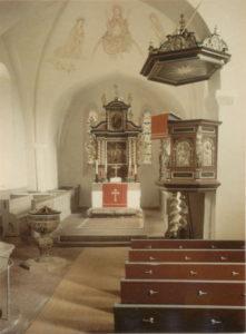 Kirche, Blick in den Chor, Foto: Ernst Witt, Hannover, März 1956