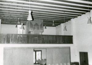 Blick zur Orgel, 1974
