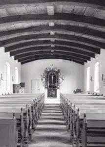 Kirche, Blick zum Altar, Foto: Ernst Witt, Hannover 1971