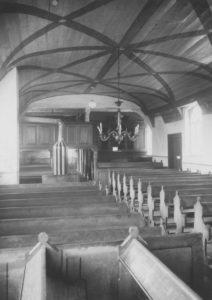 Kirche, Blick zur Orgel, Foto: Ernst Witt, Hannover, Mai 1956