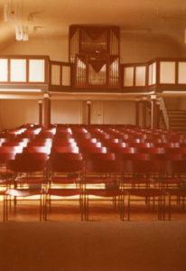 Kirche, Blick zur Orgel, 1975