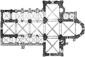 Kirche, Grundriss, 1878