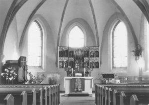 Kirche, Blick zum Altar, 1979