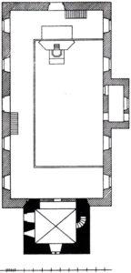 Kirche, Grundriss, Zeichnung: H. Siebern, 1905