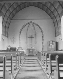 Kapelle, Blick zum Altar, Foto: Ernst Witt, Hannover, Juni 1952