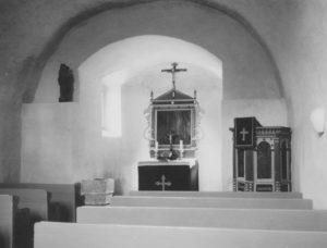 Kapelle, Blick zum Altar, Foto: Ernst Witt, Hannover, Dezember 1955