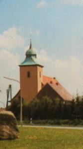 Kirche, Ansicht von Südwesten, Postkarte (Ausschnitt)