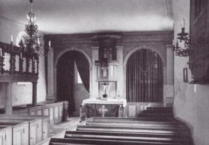 Kirche, Blick zum Altar, 1956