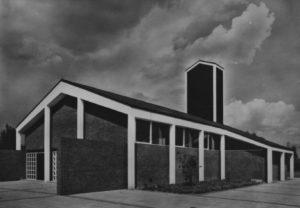 Kirche, Ansicht von Südwesten, 1965