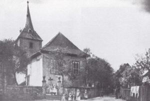 Kirche, Ansicht von Südosten, vor 1905