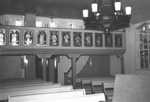 Kirche, Blick zur Empore, um 1960
