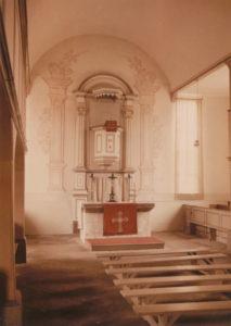 Kirche, Blick zum Altar, Foto: Ernst Witt, Hannover, Juni 1951