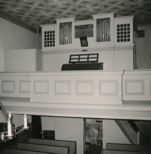 Kirche, Blick zur Orgel, vor 1962