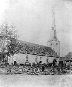 ehem. Kirche, 1891 abgebrochen; Ansicht von Nordosten