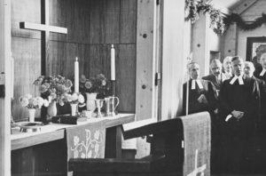 Kapelle, Blick auf den Altar, Einweihung der Kapelle am 7. Oktober 1951