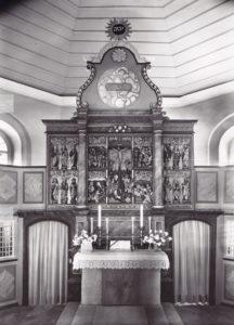 Altaraufsatz, nach der Neufassung 1961, Foto: Lichte-Pfannkuche, Göttingen, 1961
