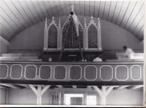 Orgel, während der Neufassung 1961