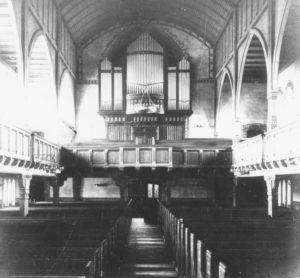 St.-Antonius-Kirche, Blick zur Orgel, um 1911/12