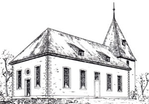 Kirche, Ansicht von Nordosten, Grafik, 1902