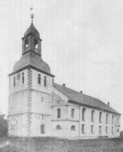 Kirche, Ansicht von Südwesten, 1908