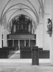Kirche, Blick zur Orgel, Foto: Ernst Witt, Hannover, Oktober 1968