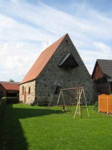 Kapelle, Ansicht von Südosten, Foto: Ernst Günther Behn, Klein Gußborn, 2013
