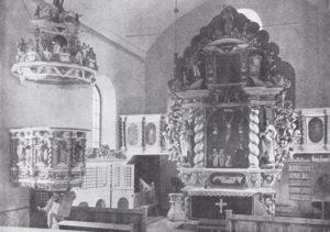 Kirche, Blick zum Altar, 1910