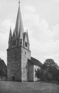 Kirche, Ansicht von Südwesten, um 1947