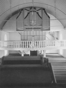 Kirche, Blick zur Orgel, Foto: Ernst Witt, Hannover, Juni 1956