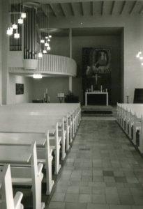 Kirche, Blick zum Altar, nach 1960, vor 1980
