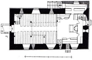 Kirche, Grundriss, vor 1938