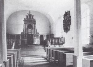 Kirche, Blick zum Altar, Foto: Helmut Janicki, 1956-58