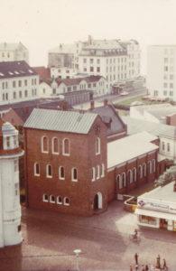 Kirche, Außenansicht, vom Leuchtturm aus, 1973 (?)