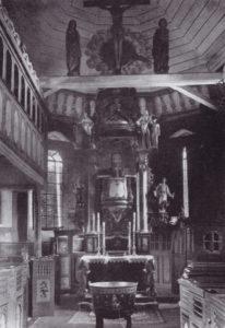 Kirche, Blick zum Altar, vor 1965