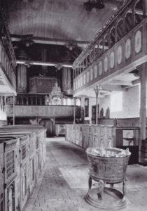 Kirche, Blick zur Orgel, vor 1965