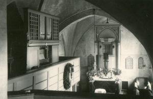 Kirche, Blick zum Altar, vor 1958