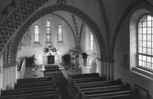 Kirche, Blick zum Altar, um 1960 (nach 1958)